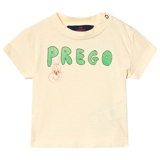 The Animals Observatory Rooster Baby T-Shirt Yellow Prego Yellow Prego