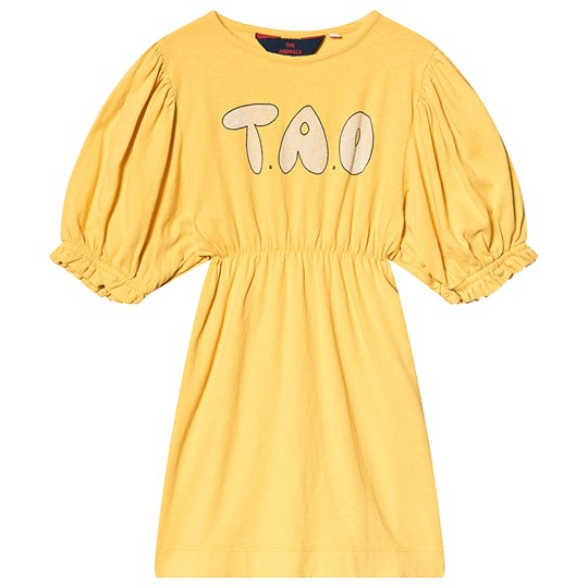 The Animals Observatory Swallow Kids Dress Yellow Tao Yellow Tao