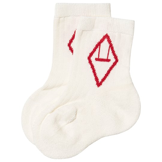 The Animals Observatory Snail Baby Socks White/Red Rød
