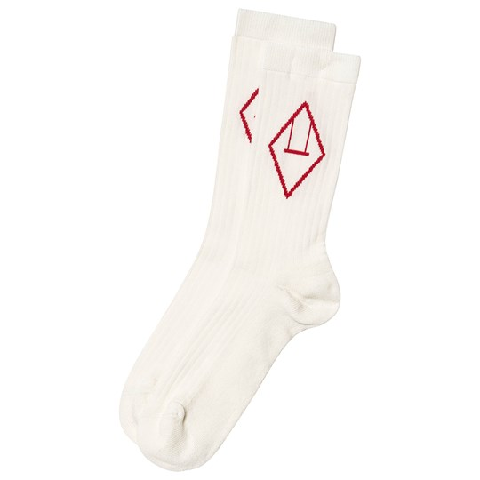 The Animals Observatory Snail Socks White Red