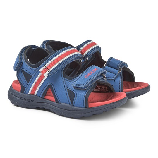 Geox Navy and Red Gleeful Sandals C0833