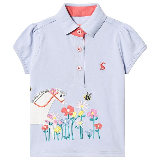 Tom Joule Blue Horse and Floral Polo Blue Horse Flowers