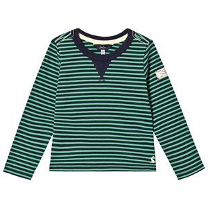 Image of Tom Joule Green and Navy Stripe Tee 1 year (3125324213)