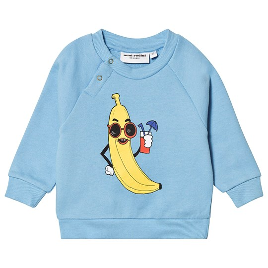 Mini Rodini Banana Sweatshirt Light Blue Light Blue