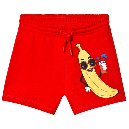 Mini Rodini Banana Sweatshorts Red Red