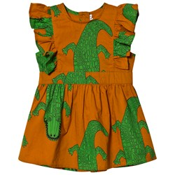 Mini Rodini Crocco Ruffle Dress Brown