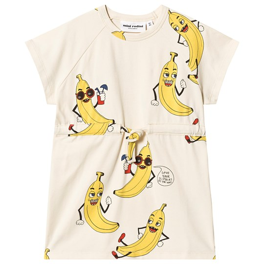Mini Rodini Banana Dress Off White 白色
