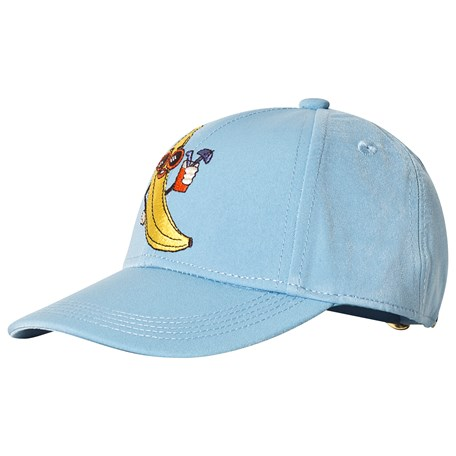 01485df6b14 Mini Rodini. Banana Embroidery Cap Light Blue