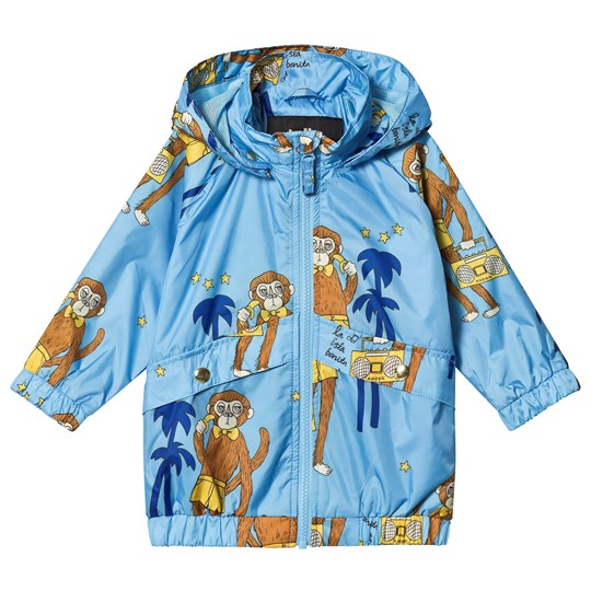 Mini Rodini Cool Monkey Sporty Jacket Light Blue Light Blue