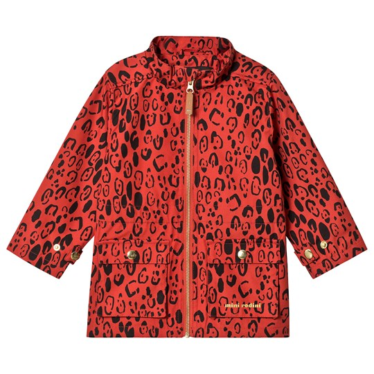 Mini Rodini Leopard Piping Jacket Red Red