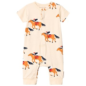 Image of Tinycottons Horse Fun One-Piece Cream/Brown 18 mdr (3125345971)