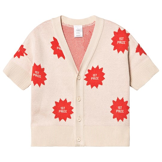 Tinycottons 1st Prize Cardigan Cream/Red cream/red