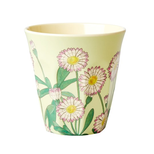 Rice Medium Melamine Cup Daisy Print green, pink
