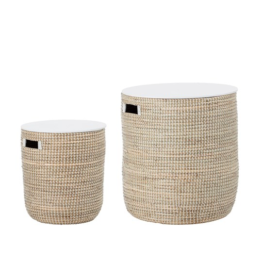 Bloomingville Nature Seagrass Basket with Lid 2-Pack Nature Seagrass