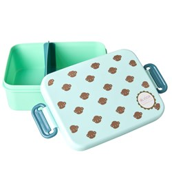 Rice Large Lunchbox with Divider Monkey Print
