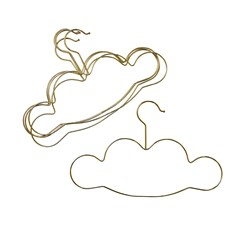Rice 5-Pack Kids Cloud-Shaped Hangers Gold