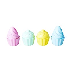 Rice Beach Toys in Muffin Shape - Assorted Pastel Colors