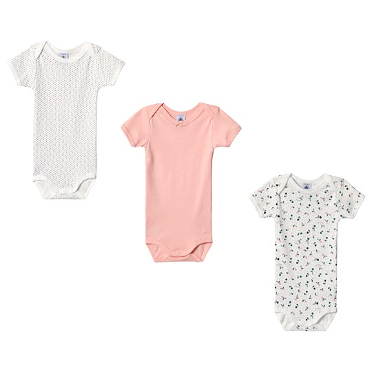 Petit Bateau 3-Pack Baby Bodies White/Pink variante 1