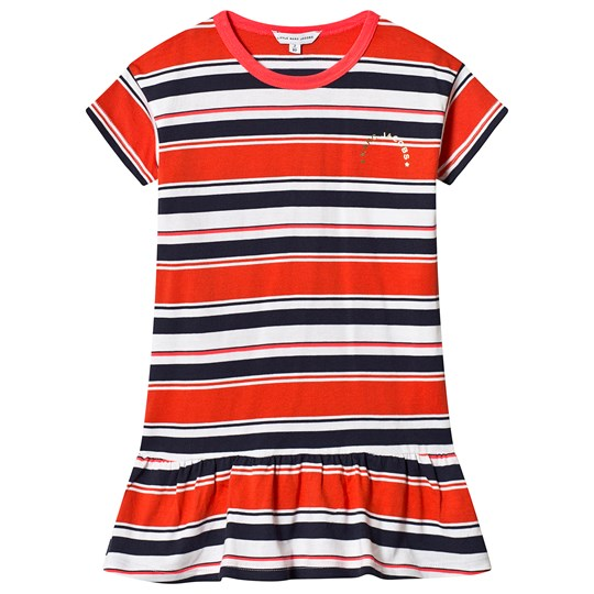 Little Marc Jacobs Red, Navy and White Stripe Jersey Dress A43