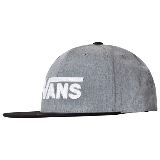 Vans Grey and Black Drop V II Snapback Cap HGB