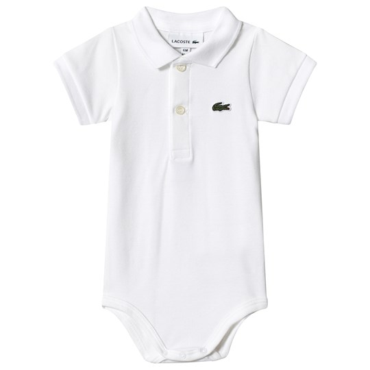 Lacoste White Branded Polo Baby Body 001