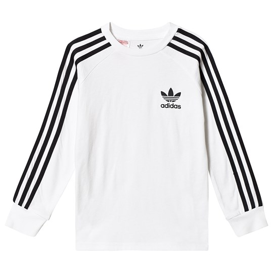 adidas Originals White Branded Long Sleeve Tee White/Black