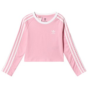 Image of adidas Originals Light Pink Branded Long Sleeve Cropped Tee 10-11 years (146 cm) (3125331579)