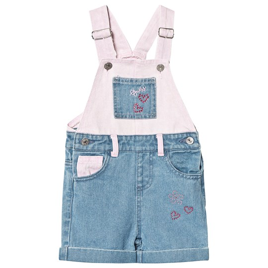 Guess Contrast Overalls Blue and Pink LIDR