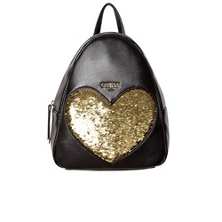 Guess Black Reversible Sequin Gold Heart Backpack