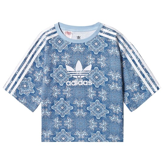 adidas Originals Blue Culture Clash Branded Tee MULTICOLOR/clear sky/white