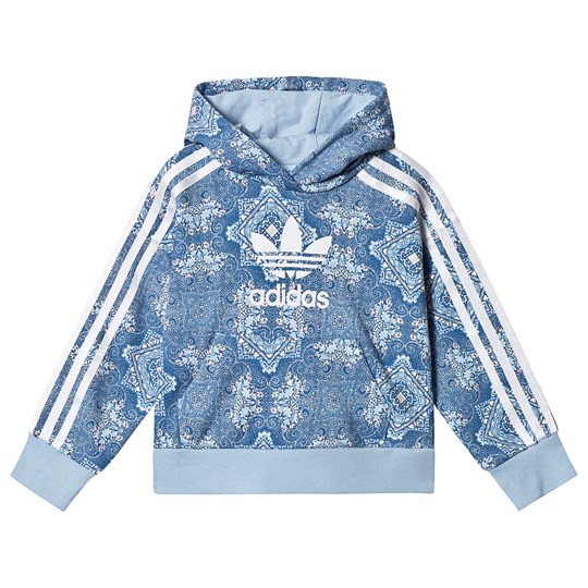 adidas Originals Culture Clash blue cropped hoodie with logo Various sizes!.