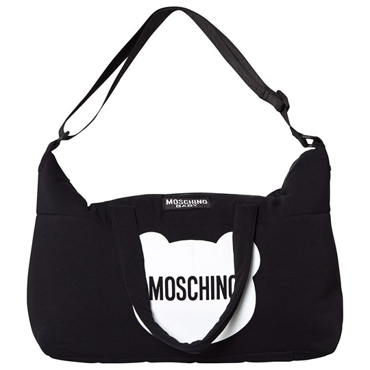 Moschino Kid-Teen Black Bear Branded Changing Bag and Mat 60100
