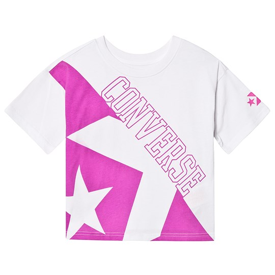 Converse White Linear Star Tee 001