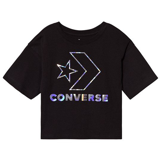 Converse Black Star Chevron Iridescent Tee 023
