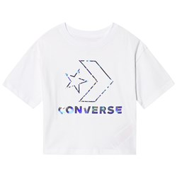 Converse White Star Chevron Iridescent Tee
