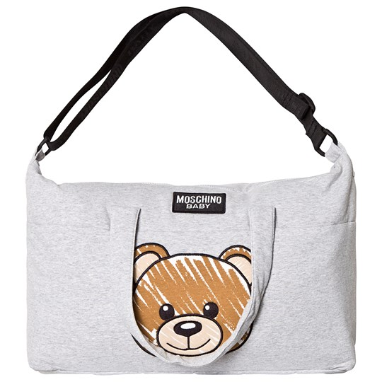 Moschino Kid-Teen Grey Bear Print Changing Bag and Mat 60901
