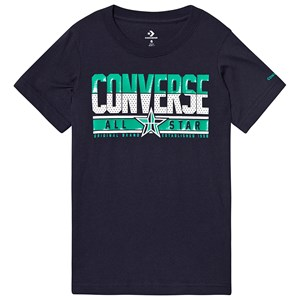Image of Converse Navy Converse Basketball Star T-Shirt 12-13 years (3125296943)
