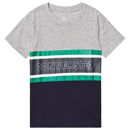 Converse Grey/Navy Retro Branded Tee 042