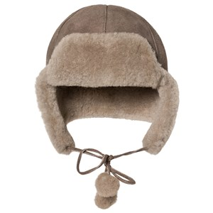 Image of Little Jalo Pom-Pom Hat Brown 44/46 cm (3125330167)