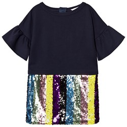 The Marc Jacobs Navy Stripe Sequin Dress
