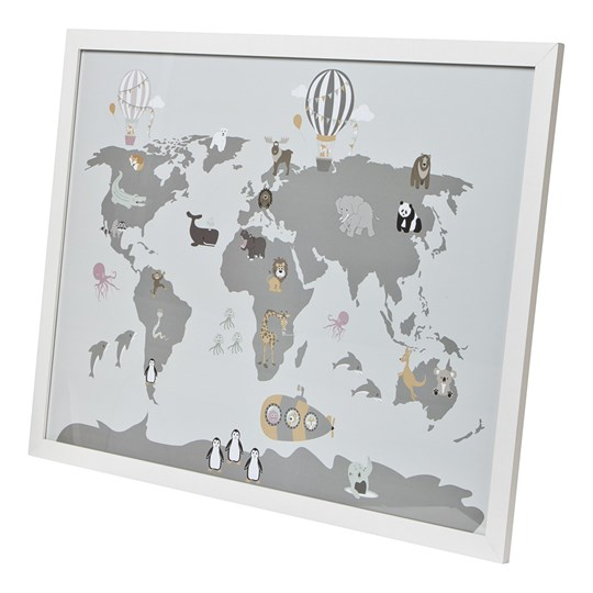 FORM Living Map Animals Poster Frame