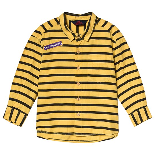The Animals Observatory Wolf Kids Shirt Yellow Stripes Yellow Stripes
