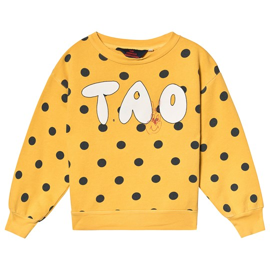 The Animals Observatory Bear Kids Sweatshirt Yellow Polka Dots Yellow Polka Dots