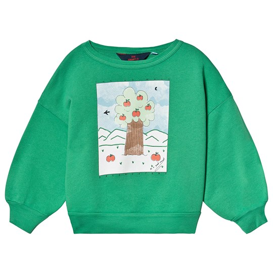 The Animals Observatory Big Bear Kids Sweatshirt Green Landscape Green Landscape