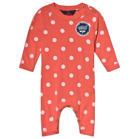 The Animals Observatory Owl Baby Pajamas Red Polka Dots Red Polka Dots