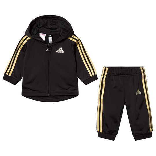 adidas Performance Black/Gold Track Pants Track Jacket Set Top:black/gold met. Bottom:BLACK/GOLD MET.