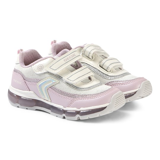 Geox Pink and White Android Sneakers C0406