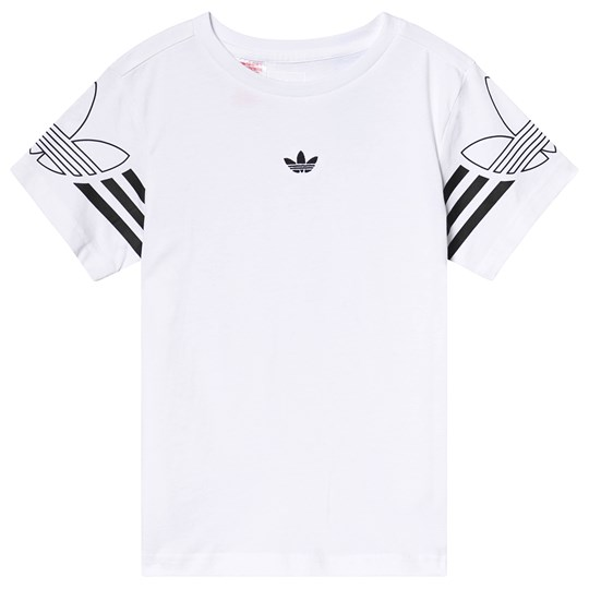 adidas Originals White Branded Tee White/Black