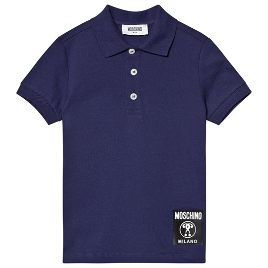 new products 587c4 15728 Navy Milano Logo Badge Polo Shirt
