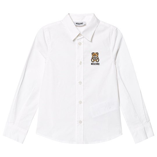 Moschino Kid-Teen White Bear Branded Shirt 10101